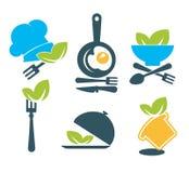 Kolekcja zdrowy śniadaniowy menu Obrazy Royalty Free