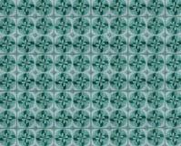Kolekcja zieleń i turkusów wzorów płytki fotografia stock