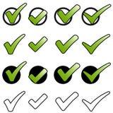 Kolekcja zieleni haczyki Zdjęcia Royalty Free
