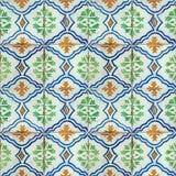 Kolekcja zieleni i błękita wzorów płytki Fotografia Stock