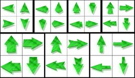 Kolekcja zieleni kursory zdjęcie stock