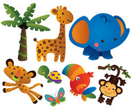 kolekcja zwierzęcy wektor Obraz Stock