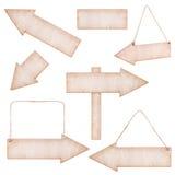Kolekcje Drewniane strzała Fotografia Stock