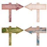 Kolekcje Drewniane strzała Obraz Royalty Free