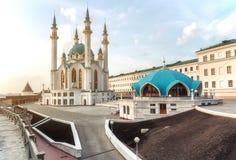Kolen Sharif Mosque i den Kazan Kreml, Tatarstan i Ryssland arkivfoton