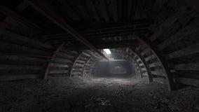 Kolenmijn donkere tunnel Royalty-vrije Stock Foto