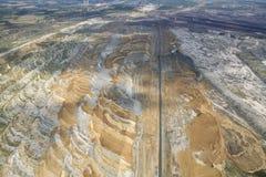 Kolenmijn, luchtmening Stock Foto's