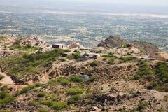 Kolenmijnen op een heuvelig gebied stock afbeeldingen