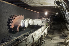 Kolenmijngraafwerktuig Stock Foto