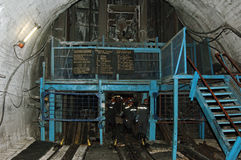 Kolenmijnlift Royalty-vrije Stock Afbeeldingen