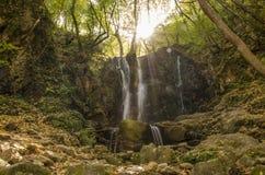 Koleshino vattenfall nära Strumica, Makedonien arkivbild