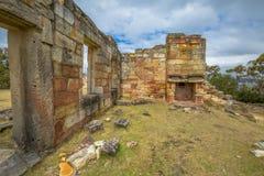 Kolgruvor historisk plats, Tasmanien Arkivbild
