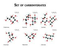 Kolhydratsockeruppsättning Arkivbild