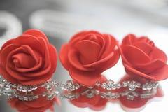 Kolia z klejnotami i kwiatami Fotografia Royalty Free