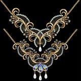 Kolii kobiety dla małżeństwa z perłami i precio Obrazy Royalty Free