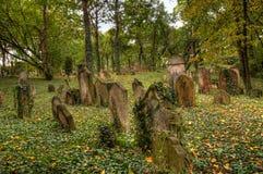 KOLIN,捷克- 2008年9月7日-老历史坟茔 免版税库存图片