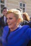 Kolinda Grabar Kitarovic il primo presidente della donna della Croazia Immagini Stock