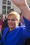 Kolinda Grabar Kitarovic il primo presidente della donna della Croazia Fotografie Stock Libere da Diritti