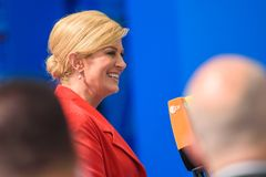 Kolinda Grabar Kitarovic, presidente della Croazia Fotografie Stock