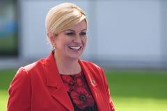 Kolinda Grabar Kitarovic, presidente della Croazia Fotografia Stock Libera da Diritti