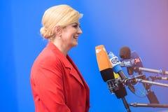 Kolinda Grabar Kitarovic, presidente della Croazia Immagine Stock Libera da Diritti