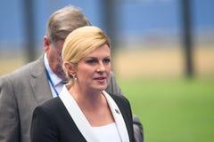 Kolinda Grabar Kitarovic, presidente della Croazia Fotografia Stock