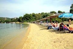 Kolios Beach, Skiathos, Greece. Stock Image