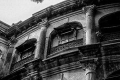 kolkata的老被毁坏的房子 免版税库存图片