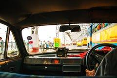 kolkata Индии Ехать такси в Kolkata, центр города Индии Стоковые Фотографии RF