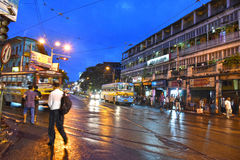 Kolkata City. Sealdah is one of the busy and congested roads and railway station with tram terminal in Calcutta now Kolkata which bustles with activities. All Stock Photo