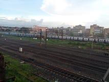 Kolkata ferroviario de la escena Imágenes de archivo libres de regalías