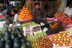 Kolkata fruktmarknad Royaltyfri Bild