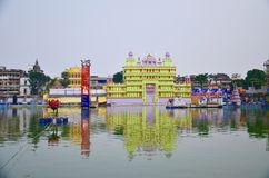 Beauty of reflection in town !!. Kolkata in India Royalty Free Stock Images