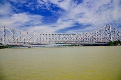Howrah bridge at West Bengal. Kolkata at India Stock Images