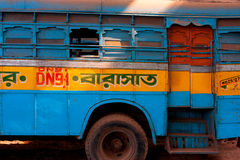 Colorful bus in India  Royalty Free Stock Images