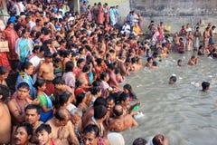 Free Kolkata, India - October 12: Hindu People Take A Bath In The Ri. Royalty Free Stock Photo - 151424975