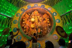 KOLKATA , INDIA - OCTOBER 1, 2014 : Durga Puja festival, documentary editorial Royalty Free Stock Photo