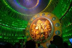 KOLKATA , INDIA - OCTOBER 1, 2014 : Durga Puja festival, documentary editorial Royalty Free Stock Photos