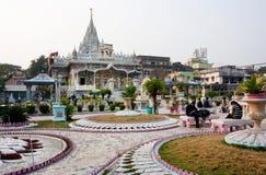 KOLKATA, INDIA: Visitors in the courtyard of Jain temple Royalty Free Stock Photo