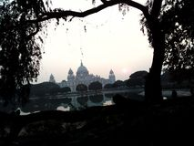 Kolkata Memorial Hall End of the day stock photography