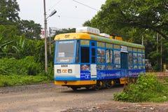 Kolkata spårvagndrev Fotografering för Bildbyråer