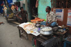 Kolkata Street Food Vendor. royalty free stock image