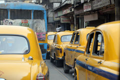 Kolkata Taxi Royalty Free Stock Photo