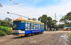 Kolkata-Tram-Zug Stockbild