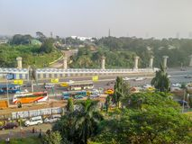 Nice City from window. Kolkata, West Bengal, India- December, 17, 2017- Nice city, shoot from window Royalty Free Stock Images