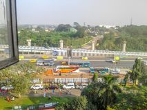 Nice City from window. Kolkata, West Bengal, India- December, 17, 2017- Nice city, shoot from window Royalty Free Stock Photos