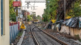Local Trains of Indian Railways stock image