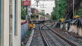 Local Trains of Indian Railways stock images