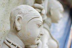Clay idol of Goddess Durga, Kumartuli, Kolkata, West Bengal, India. KOLKATA, WEST BENGAL, INDIA - 25 SEPTEMBER 2016: Clay idol of Goddess Durga, under Stock Photography