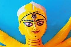 Clay idol of Goddess Durga, Kumartuli, Kolkata, West Bengal, India. KOLKATA, WEST BENGAL, INDIA - 25 SEPTEMBER 2016: Clay idol of Goddess Durga, under Royalty Free Stock Image